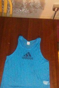 Adidas mesh blue tank top. Large